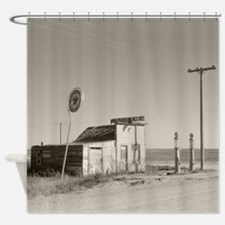 Abandoned Texaco Station, 1937 Shower Curtain