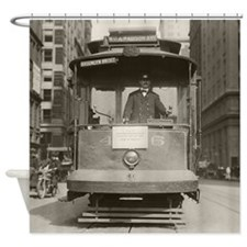 Brooklyn Bridge Trolley, 1915 Shower Curtain