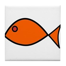 Orange Fish Tile Coaster