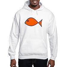 Orange Fish Hoodie