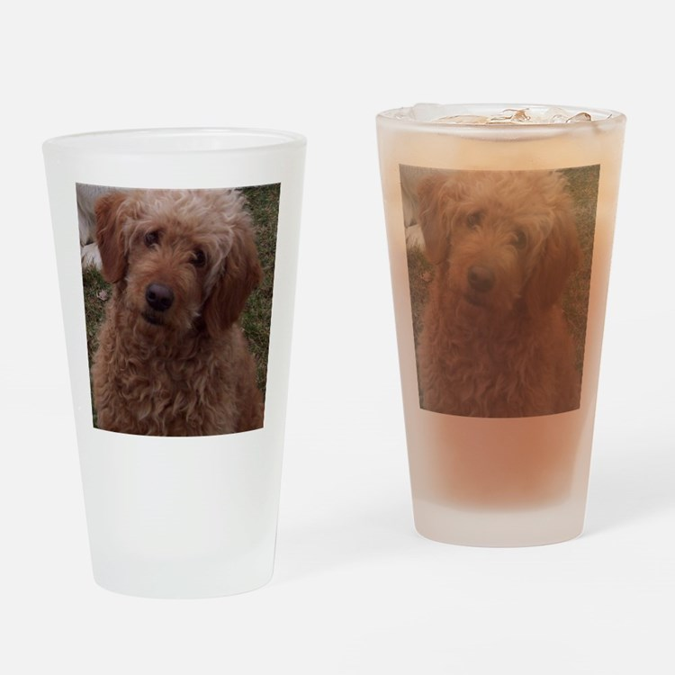 Golden Doodle Drinking Glass
