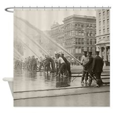New York City Firemen, 1908 Shower Curtain