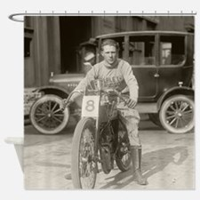 Motorcycle Racer, 1922 Shower Curtain