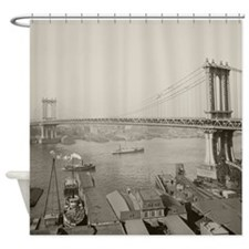 Manhattan Bridge, 1909 Shower Curtain