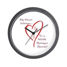 Springer Spaniel Heart Belongs Wall Clock