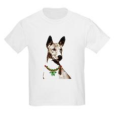 Basenji Holiday by madeline wilson T-Shirt
