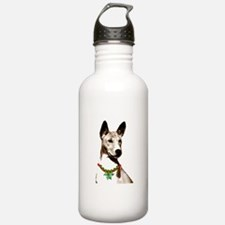 Basenji Holiday by madeline wilson Water Bottle