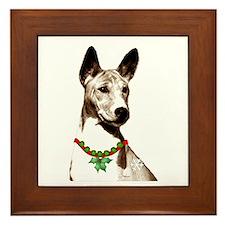 Basenji Holiday by madeline wilson Framed Tile