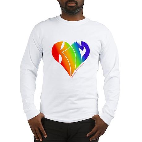 Kim rainbow heart Long Sleeve T-Shirt