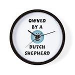 Owned by a Dutch Shepherd Wall Clock