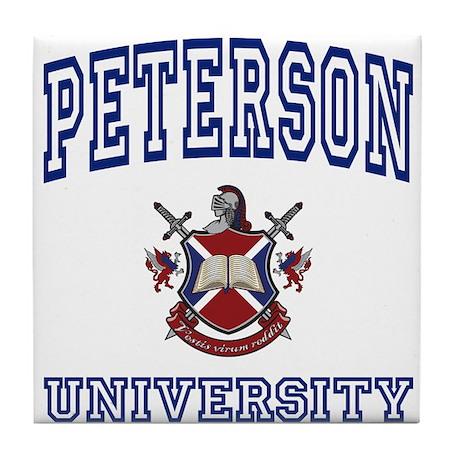 PETERSON University Tile Coaster