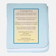 A Hanukkah Poem baby blanket
