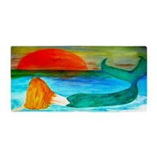 Sunset Mermaid Beach Towel