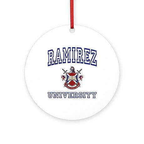 RAMIREZ University Ornament (Round)