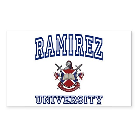 RAMIREZ University Rectangle Sticker