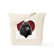 Poodle Valentine Tote Bag