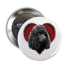 Poodle Valentine Button