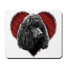 Poodle Valentine Mousepad