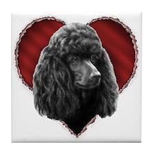 Poodle Valentine Tile Coaster