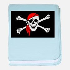 Pirate flag baby blanket