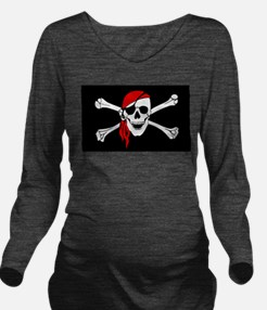 Pirate flag Long Sleeve Maternity T-Shirt