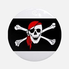 Pirate flag Ornament (Round)