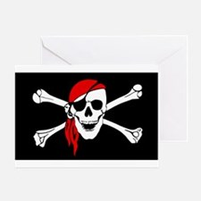 Pirate flag Greeting Cards