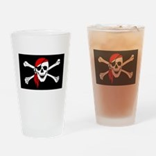 Pirate flag Drinking Glass