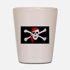 Pirate flag Shot Glass