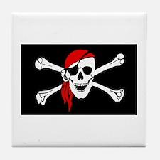 Pirate flag Tile Coaster
