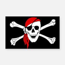 Pirate flag Rectangle Car Magnet