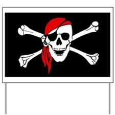 Pirate flag Yard Sign