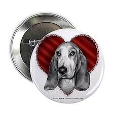 Basset Hound Valentine Button