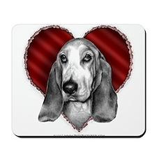 Basset Hound Valentine Mousepad