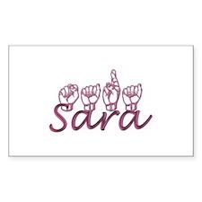 Sara Rectangle Bumper Stickers