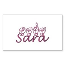 Sara Rectangle Decal