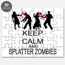Keep Calm And Splatter Zombies Puzzle