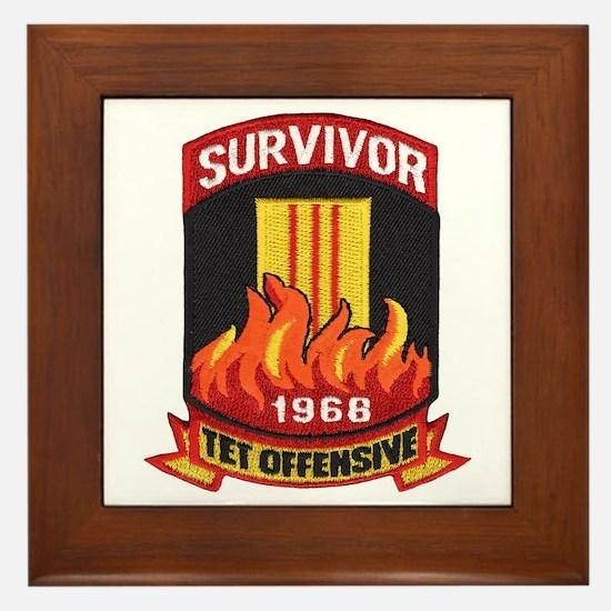 Tet Survivor Framed Tile