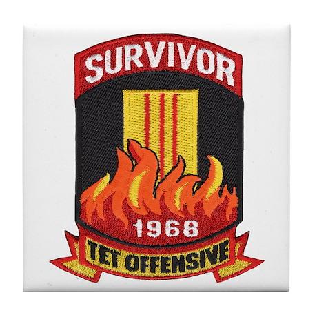 Tet Survivor Tile Coaster