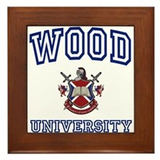 WOOD University Framed Tile