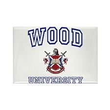 WOOD University Rectangle Magnet