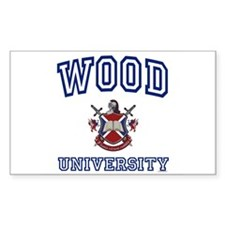 WOOD University Rectangle Decal