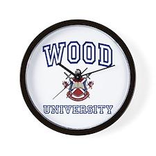 WOOD University Wall Clock