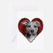 Pit Bull Terrier Valentine Greeting Cards (Package
