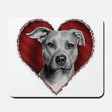 Pit Bull Terrier Valentine Mousepad