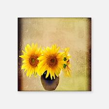 """modern sunflower western co Square Sticker 3"""" x 3"""""""