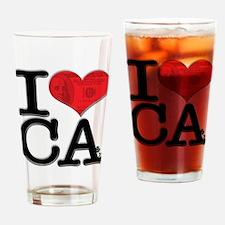 I Love CAsh Drinking Glass