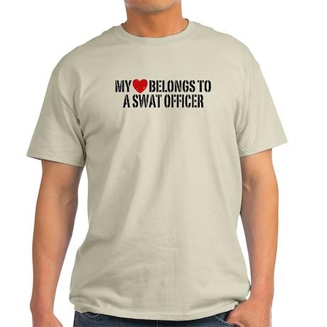 My Heart Belongs to a Swat Officer Light T-Shirt