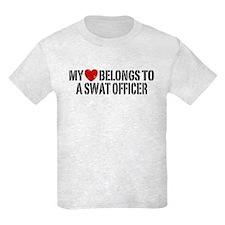 My Heart Belongs to a Swat Officer T-Shirt