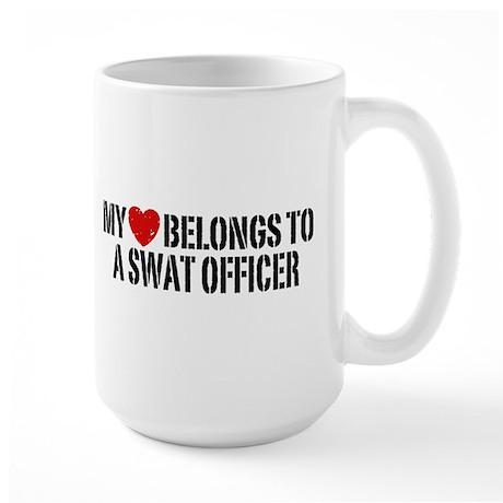 My Heart Belongs to a Swat Officer Large Mug